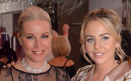 Denise and Lydia pictured at a charity ball in aid of Brain Tumour Research earlier this year