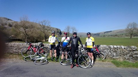 Training ride out to Kilnsey