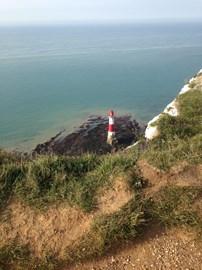 Beachy Head lighthouse along the route