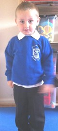 Ethan's first day at nursery