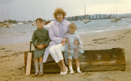 Jane Dukes with sons (Terry right)