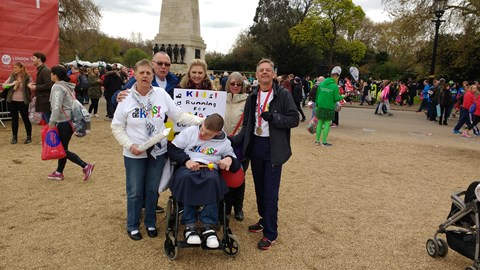 Adam and family at London 2016
