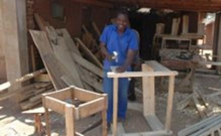 Mr Namwaza, our local carpenter in Malawi