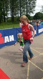 Running at Ironkids...