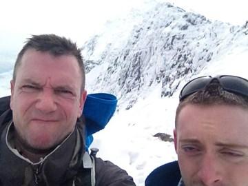 Winter conditions atop Snowdon