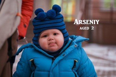 Little Arsenii, 2 years old