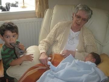 Jen With Her Grandchildren