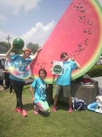 at the watermelon marathon in Chiba, Japan