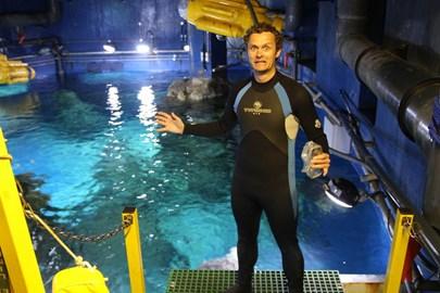 Matt scared (about to enter shark tank)