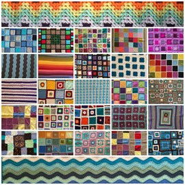 Crochet For Kidneys Part 4 blanket collage