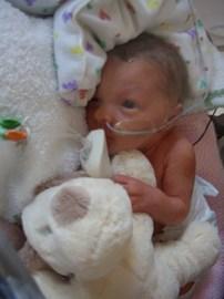 Isla as a newborn