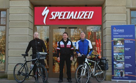 Luke and Tim with Bill from Specialized