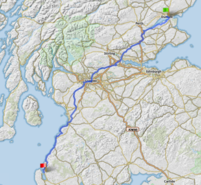 Days 1 and 2 of the ride... Scotland!