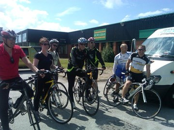 Charity Cycle ride by Huws Gray staff