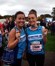 Caitlin & Brogan after the 10K