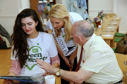The London Roses help Green Hearts at a blood pressure screening