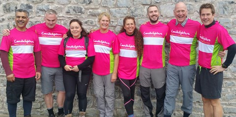 Team Bramhope at the starting point
