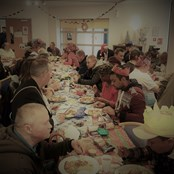 "Christmas Dinner enjoyed by over 120 people in 2018. Please help us ""Make Christmas Special"" again."