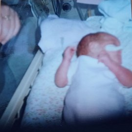 Me in an incubator