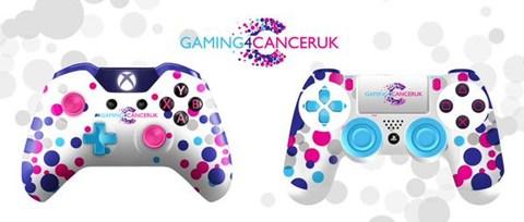 GamingforCancerUK XboxOne and Playstation 4 Controllers