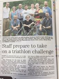 We've made the local paper - Newark Advertiser 28/07/16