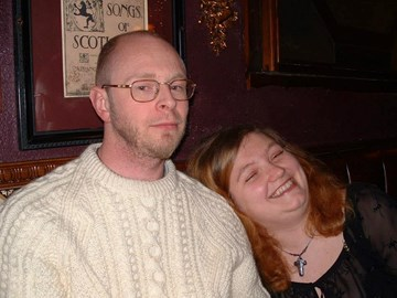 Tim and me, in the pub ;) Christmas 2002