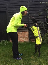 me and my running partner!