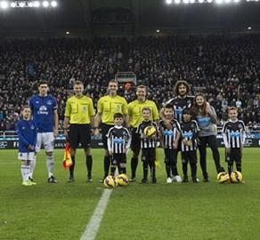 Matthew Spoors Mascot - Newcastle V Everton