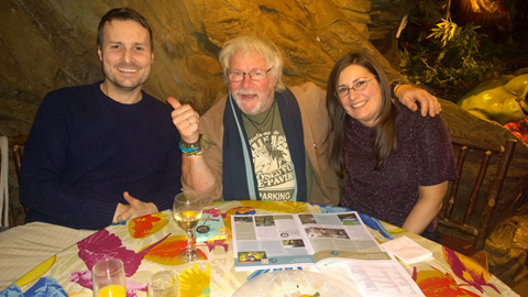 The lovely Bill Oddie challenging me