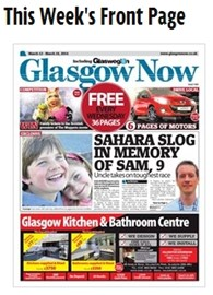 Glasgow Now have put fundraising effort on front page