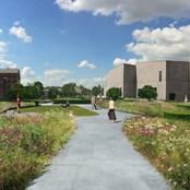 CGI impression of The Hepworth Wakefield Garden