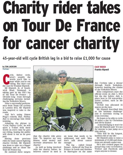 Frankie Hipwell-Larkin is fundraising for Orchid Cancer