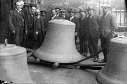 Bells ready for hanging in 1921