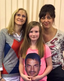 Millie winning M&G with Peter Andre