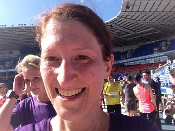 Finished the half marathon in 2.04!