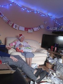 Granny enjoying xmas