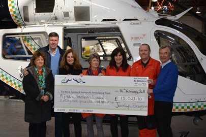 Mark and Claire Elliott are keen supporters of the charity after KSS Air Ambulance came to the aid of their son, George