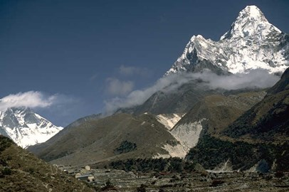 Ama Dablam with Everest in background