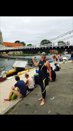 Feeling ecstatic,having swum 14.1km and finished !