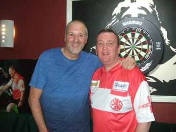With England darts international Glen Durrant