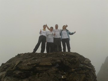 At the top of Ben Nevis.  We made it!!!
