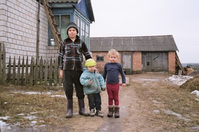A family in their village