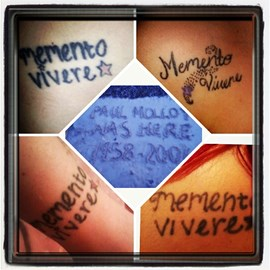 The tattoos me and my siblings got in memory of our dad