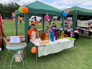 At the South Leigh Village Fair raising money for Helen & Douglas House.  Thanks you everyone