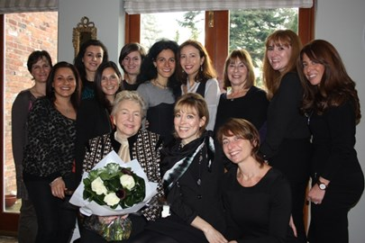 Dame Stephanie Shirley and the Big Birthday mums