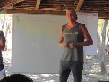 Teaching a Personal Development workshop to volunteers in Nicaragua