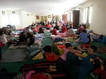 AOl Centre Nepal converted into relief camp