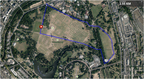 Arial View of Fun Run Route