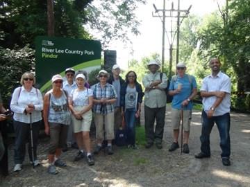 PENHA Walkers in the Lee Valley