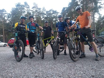 Training ride in Swinley Forest